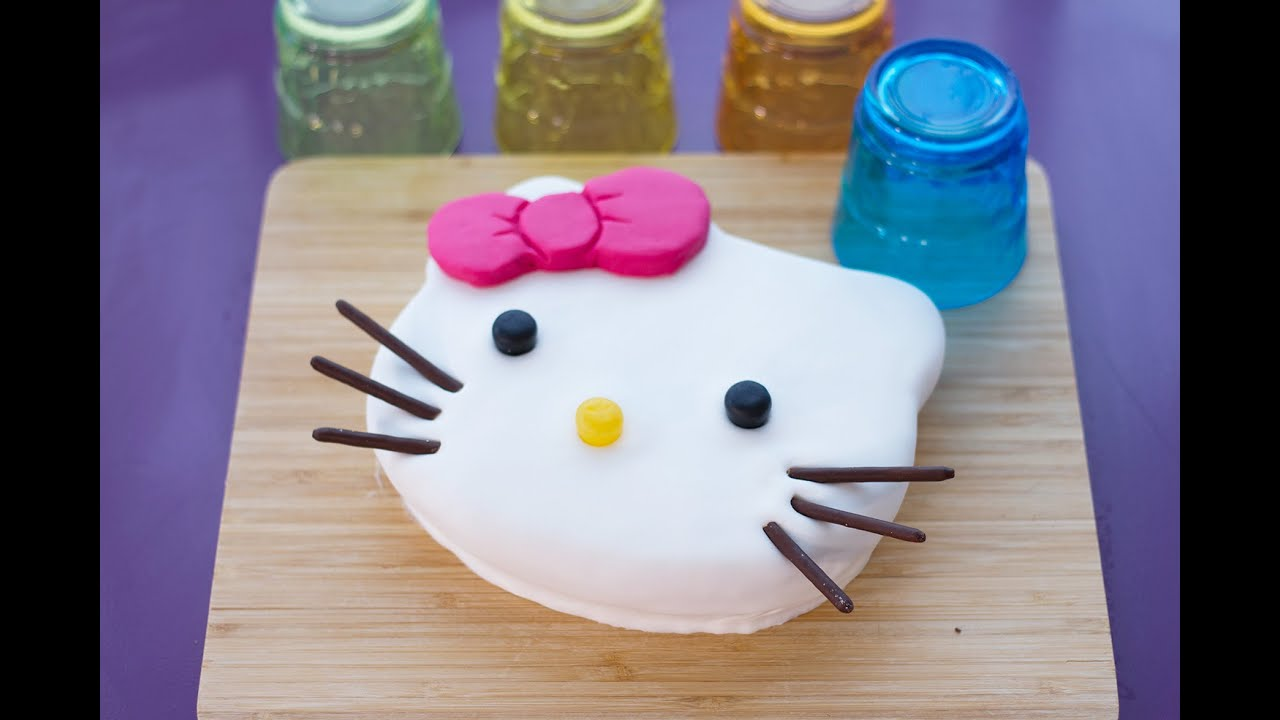 G teau hello kitty facile et mignon d coration en p te sucre 01tuto - Comment dessiner hello kitty facilement ...